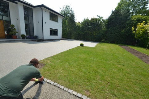 Resin bound gravel installation in Bramhall